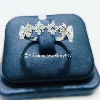 18K 750 Cubic Diamond Dainty Ring