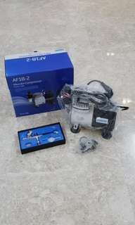 Airbrush Compressor AF-18-2, Mini Air Compressor for spraying, painting, blowing etc. Include airbrush and accessories