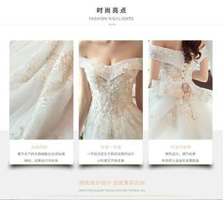 [Brand New] ivory Bridal Ballgown with details