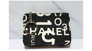 Chanel vintage card/coin bag with key chain