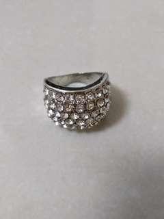 滿鑽銀色戒指 介指