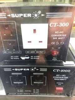 SUPER 變壓器 100V~220V