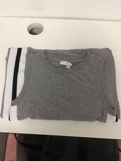 Long grey tank top t-shirt dress