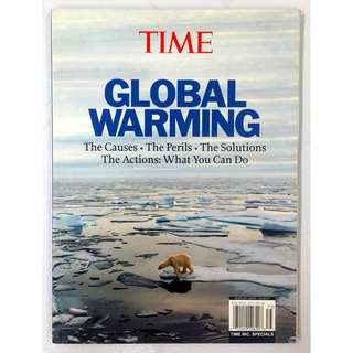 Time: Global Warming: The Causes, the Perils, the Solutions, the Actions... by Kelly Knauer (Adult Non Fiction Science Nature Reference)