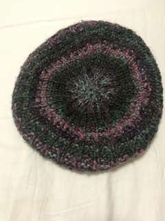 Colourful knit beret