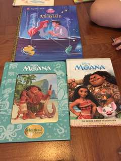 Ariel and moana books