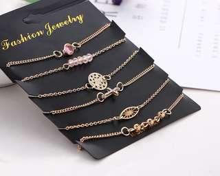 手鏈 一套$80 現貨 包郵 Bracelet $80/set