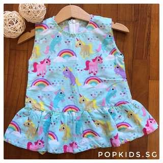 🦄 Unicorn Rainbow Peplum Dress 🦄
