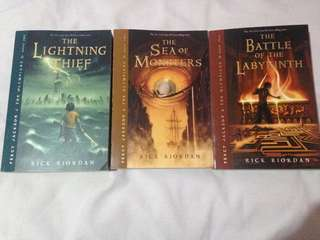 Percy Jackson (Books 1, 2 & 4)