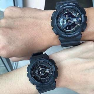 COUPLE MATTE BLACK GSHOCK WATCH