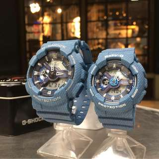 MEDIUM DENIM COUPLE GSHOCK WATCH