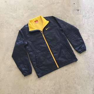 NIKE YELLOW EMBROIDERED VINTAGE PUFFER JACKET