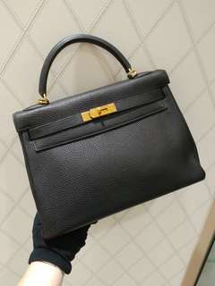 Hermes kelly 32 togo black
