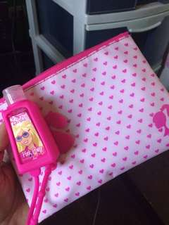 barbie pouch w/ sanitizer
