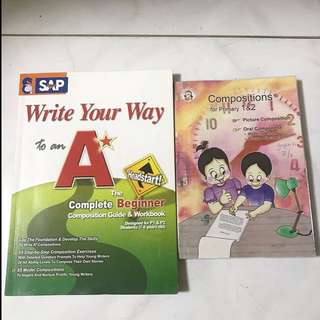 ENGLISH WORKBOOK AND ENGLISH COMPOSITION WRITING FOR PRIMARY 1