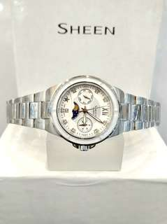 Brand New 100% Authentic Casio Sheen Ladies Casual Watch with Moon / Sun Function SHE-3500D-7A