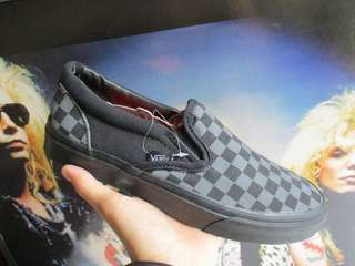 Vans slip-on checkerboard balck black grey