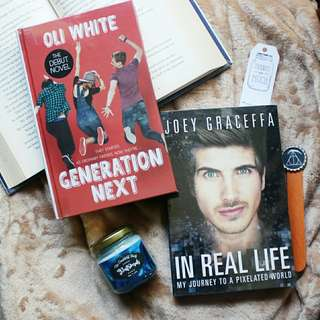 In Real Life by Joey Graceffa + Generation Next by Oli White (SOLD AS SET)