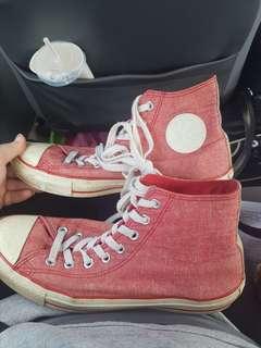 Vintage converse shoes mens size 8 womens size 10