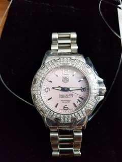 Tag Heuer Formula One Pink Mother of Pearl Diamond Watch