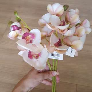 """Artificial Phalaenopsis Pink Orchid Spray 21"""" X 3"""