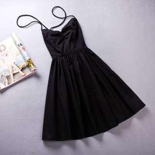 Summer Lace-Up Back Dress