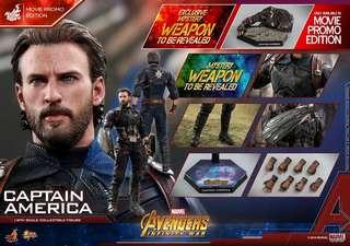 賣(13/4) 會員首日普通版訂單 MMS480 Hottoys 無限之戰 美國隊長 Captain America