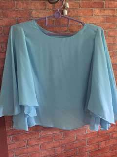 FLARE BABY BLUE TOPS