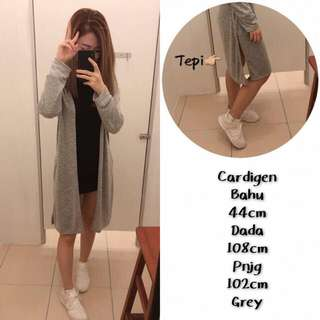 Women Knitted Long Cardigan