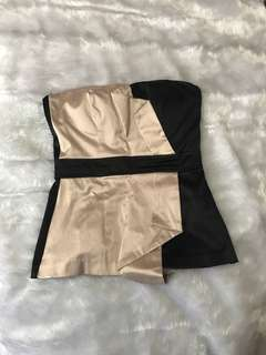 ASOS Black and Tan Strapless