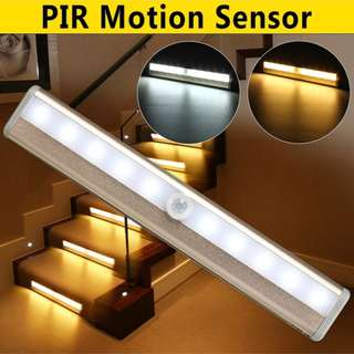 10 LED Battery Powered Portable Wireless Super Bright Closet Cabinet LED Stairs Light