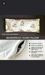 Beansprout husks pillow