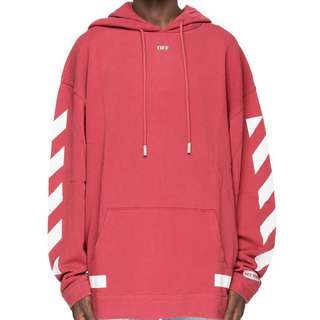 Off white c/o Virgil Abloh F/W17-18 Hoodie sweatshirt red