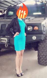 """DRESS BLUE ONLY """"BODYCON"""""""