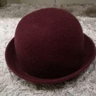 Maroon Round Hat