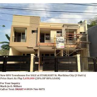 New RFO Townhouse For Sale At Starlight Residences Marikina City