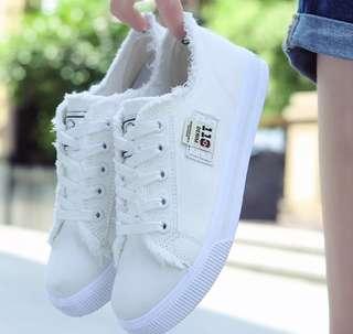 Korean style white sneakers