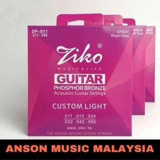 Ziko DP-011 Phosphor Bronze Acoustic, Custom Light, 11-50