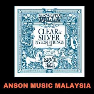 Ernie Ball 2403 Ernesto Palla Clear & Silver Nylon Classical Guitar Strings