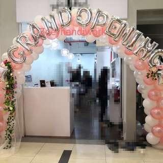 Customised balloon arch, for all kinds of occasions wedding, birthday party, grand opening