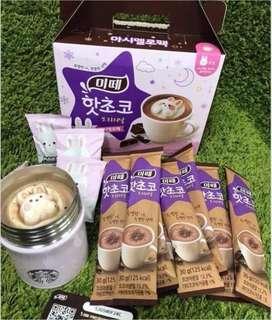 🚚 韓國。可愛棉花糖 巧克力沖泡飲