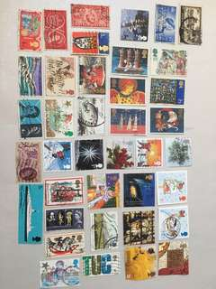 FP! 39 pieces used UK commemorative stamps