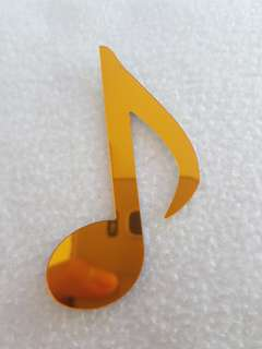 Music notes golden acrylic piece for bookmarks/ wall sticker/ decoration