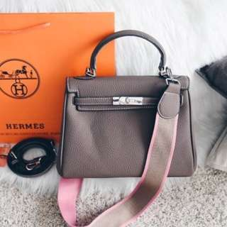 Hermes Kelly Togo with Canvas Strap