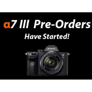 SONY A7lll BODY READY STOCK HURRY FEW MORE LEFT.