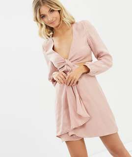 Bardot blush cut out dress