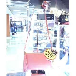 Yves Saint Laurent Pink Leather Crossbody Shoulder Hand Bag Handbag 聖羅蘭 粉紅色 牛皮 皮革 斜揹袋 斜背袋 肩袋 袋 手袋