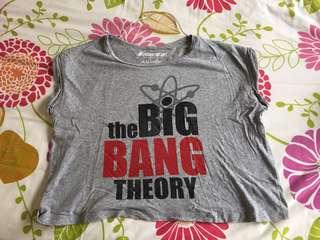 PULL & BEAR The Big Bang Theory crop shirt