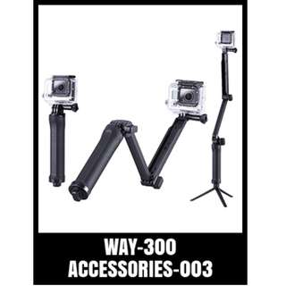 GP 3WAY MULTI FUNCTION FOLDING MONOPOD LEVER WAY-300