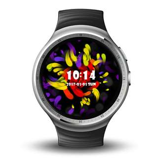 LEMFO LES 1 Smart Watch Phone-1 IMEI, 3G, 5MP Camera, WiFi, Music, Pedometer, Heart Rate, Android OS (Silver) Or (Black) (CVAIA-W091)
